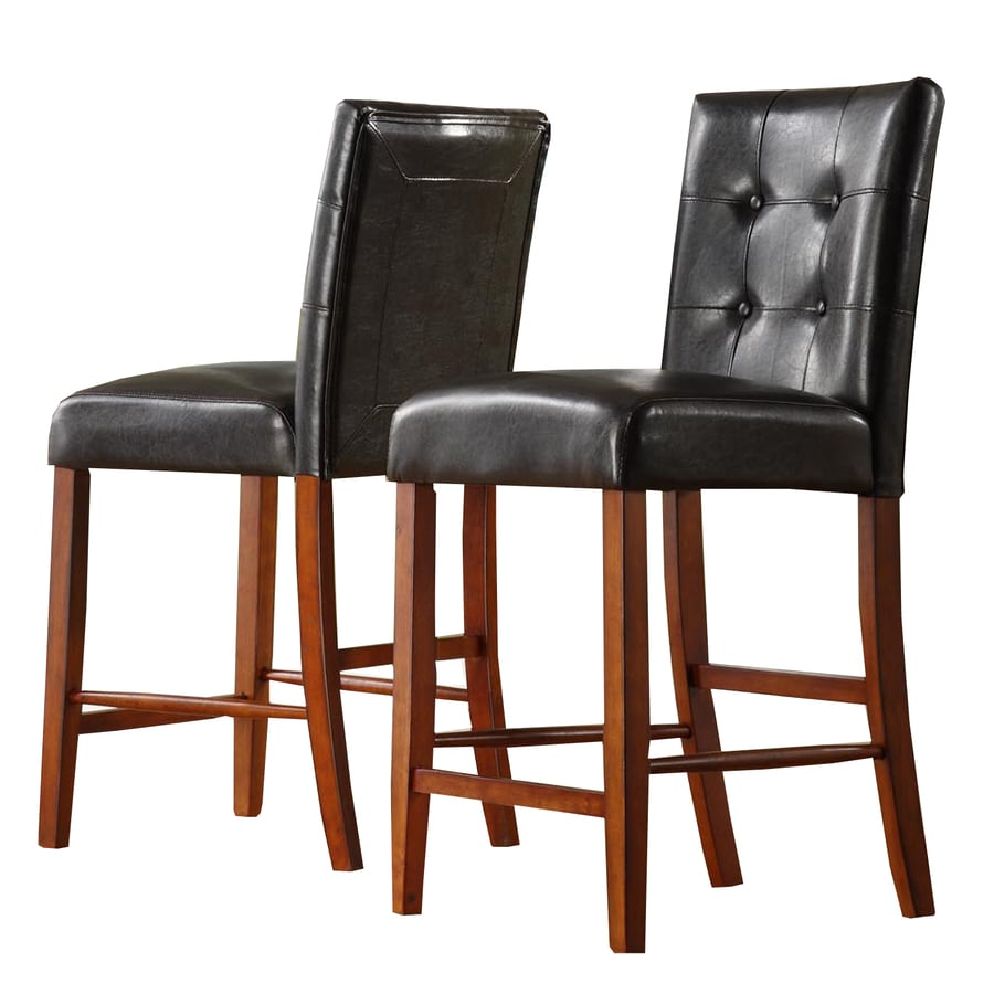 Shop Home Sonata Set Of 2 Modern Cherry Counter Stools At