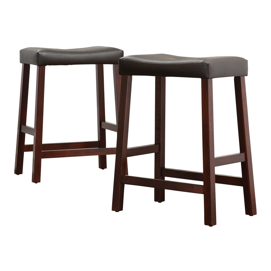 Home Sonata Cherry 24-in Counter Stool