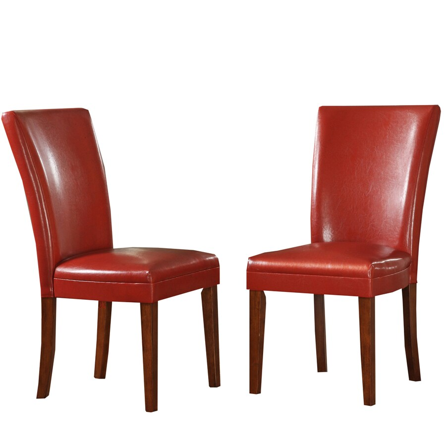 Home Sonata Contemporary Red Side Chair
