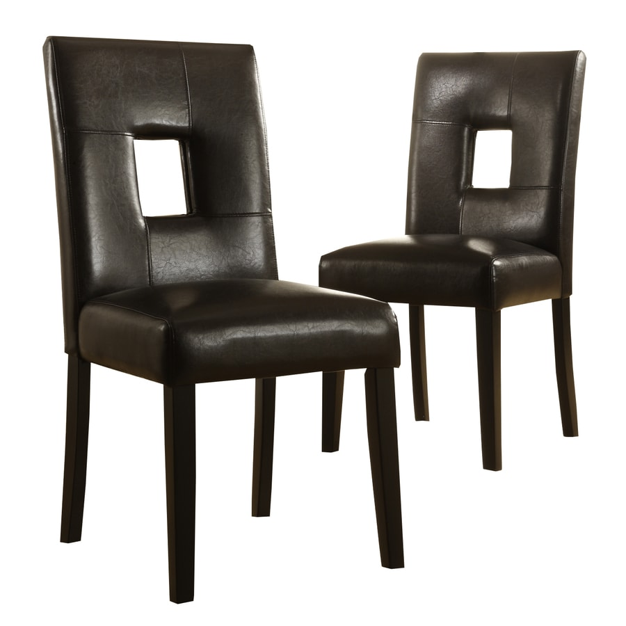 Home Sonata Set of 2 Black Side Chairs