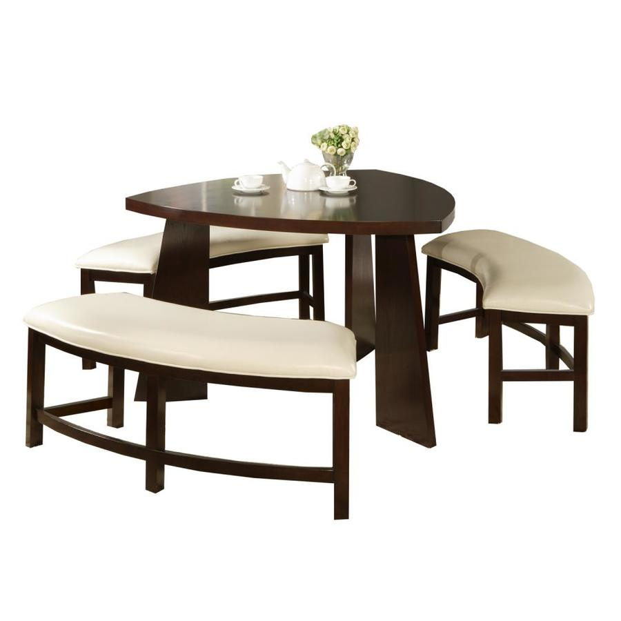 Shop home sonata oak 4 piece dining set with oval dining for 4 piece dining table set