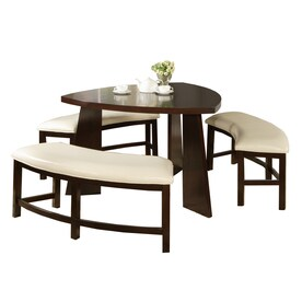 Home Sonata Oak 4 Piece Dining Set With Oval Dining Table