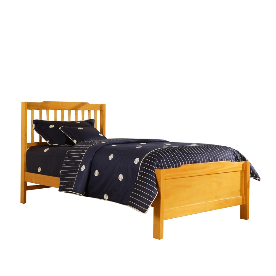 Shop Home Sonata Honey Pine Twin Bed Frame at Lowes.com