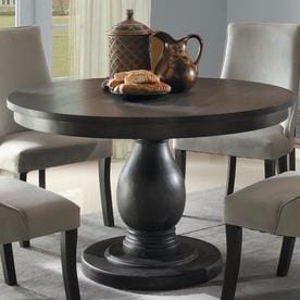 Homelegance Dandelion Distressed Taupe Wood Round Dining Table
