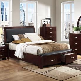 Homelegance Lyric Dark Espresso King Sleigh Bed With Storage