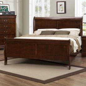 Homelegance Mayville Burnished Brown Cherry King Sleigh Bed