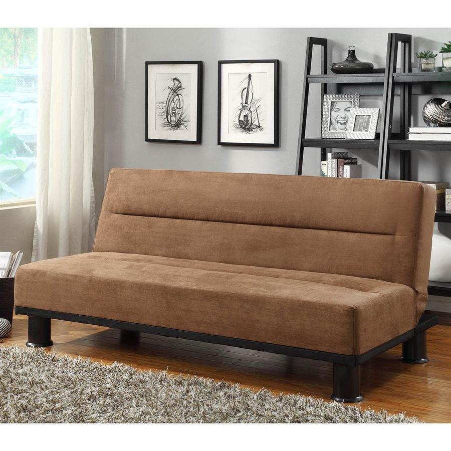 Microfiber Sofa Beds: Homelegance Callie Brown Microfiber Sofa Bed At Lowes.com