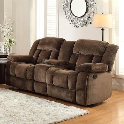Terrific Laurelton Casual Chocolate Microfiber Reclining Loveseat Evergreenethics Interior Chair Design Evergreenethicsorg