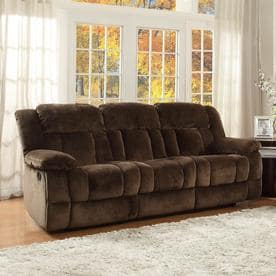 Homelegance Laurelton Casual Chocolate Microfiber Reclining Sofa