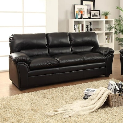 Awesome Homelegance Talon Casual Black Faux Leather Sofa At Lowes Com Ibusinesslaw Wood Chair Design Ideas Ibusinesslaworg