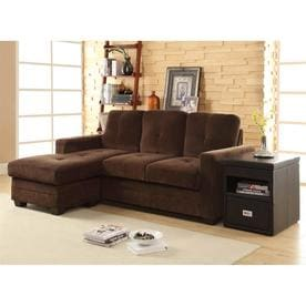 824950bf10890 Homelegance Phelps Casual Chocolate Microfiber Sectional