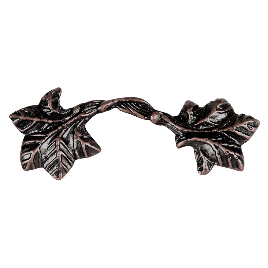 Lola & Company 3-in Center-to-Center Venetian Bronze Leaf Rectangular Cabinet Pull
