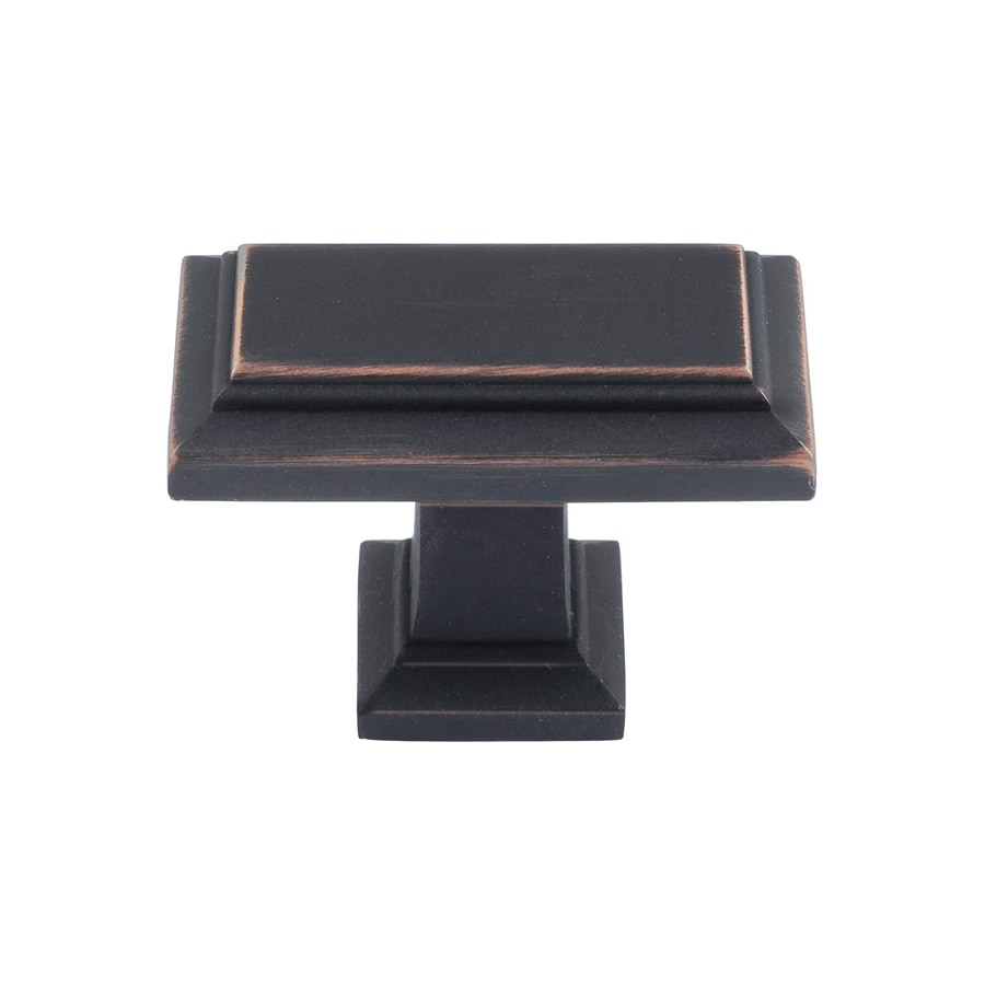 Lola & Company 1-3/8-in Venetian Bronze Sutton Place Rectangular Cabinet Knob