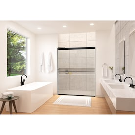 Kohler Finesse 70 0625 In H X 54 625 In To 59 625 In W Frameless Sliding Matte Black Frame With Smooth Clear Glass Texture Shower Door Clear Glass In The Shower Doors Department At Lowes Com