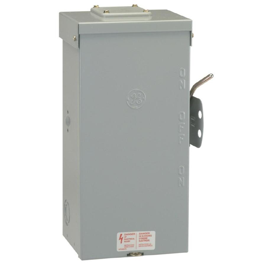 ge 100amp nonfusible metallic safety switch