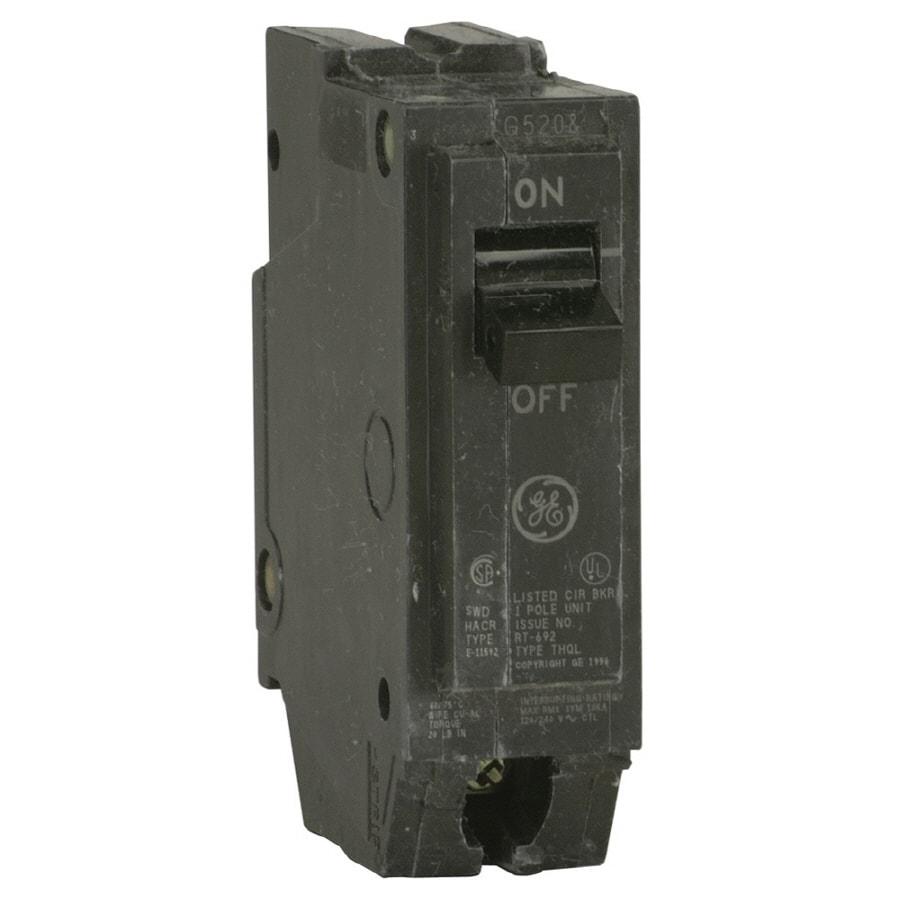 GE Q-Line THQL 20-Amp 1-Pole Single-Pole Circuit Breaker