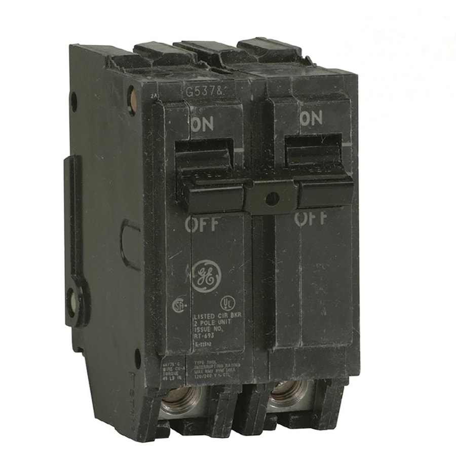 shop ge q line thql 30 amp 2 pole standard trip circuit breaker at rh lowes com