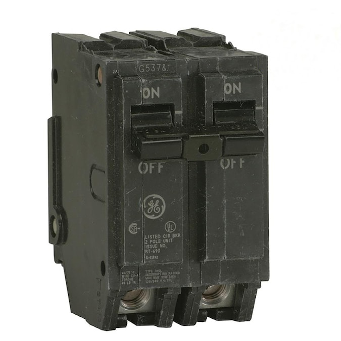 Ge Q Line Thql 30 Amp 2 Pole Standard Trip Circuit Breaker In The Circuit Breakers Department At Lowes Com