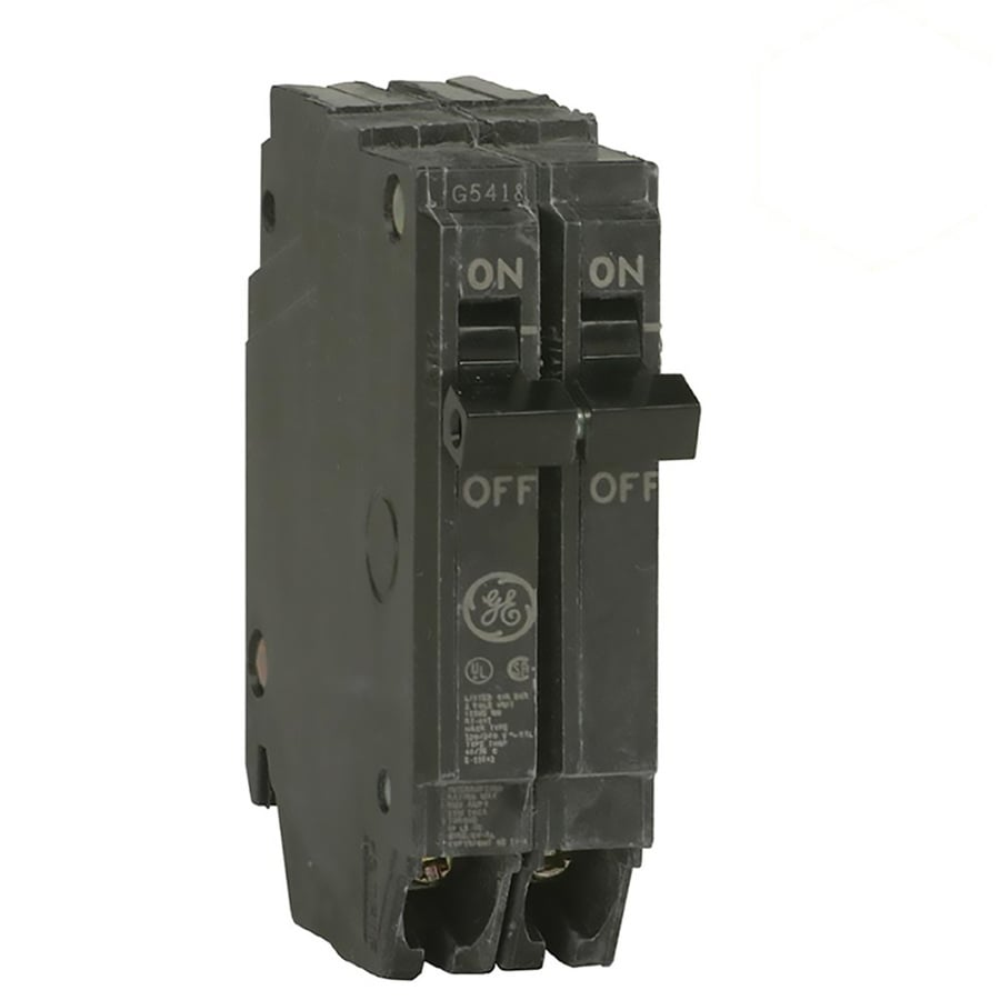 Shop GE Q-line Thqp 20-Amp 2-Pole Standard Trip Circuit Breaker at ...