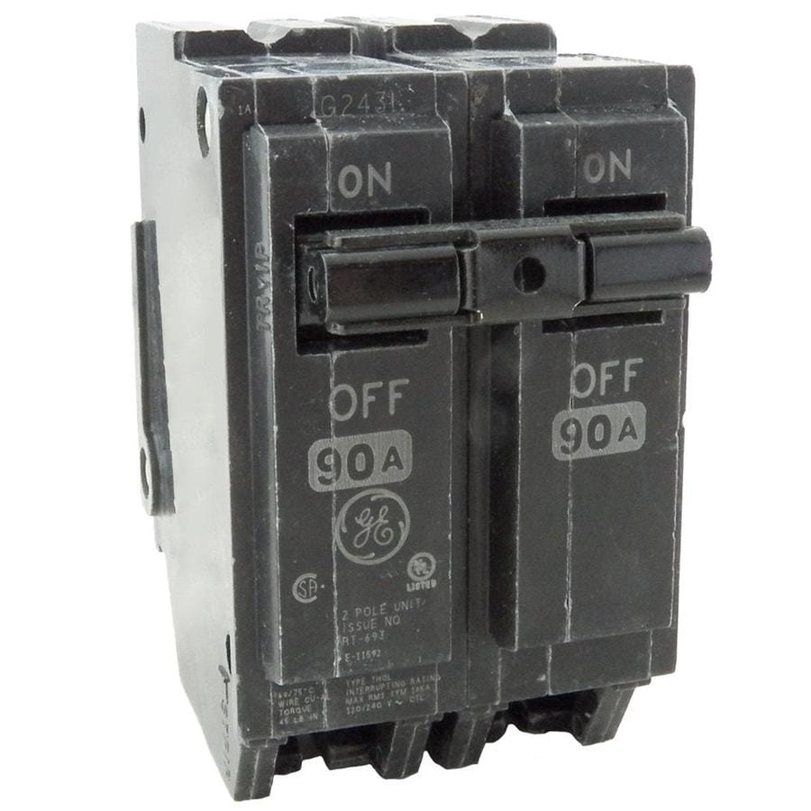 shop ge q line thql 90 amp 2 pole circuit breaker at. Black Bedroom Furniture Sets. Home Design Ideas
