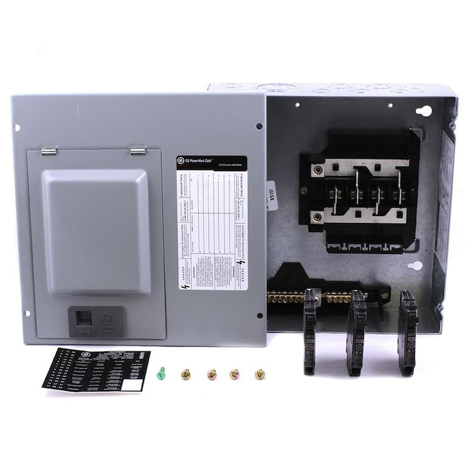 GE PowerMark Gold 125-Amp 8-Spaces 16-Circuit Convertible Main Lug Load  Center (Value Pack) in the Breaker Boxes department at Lowes.com   Ge Fuse Boxes      Lowe's