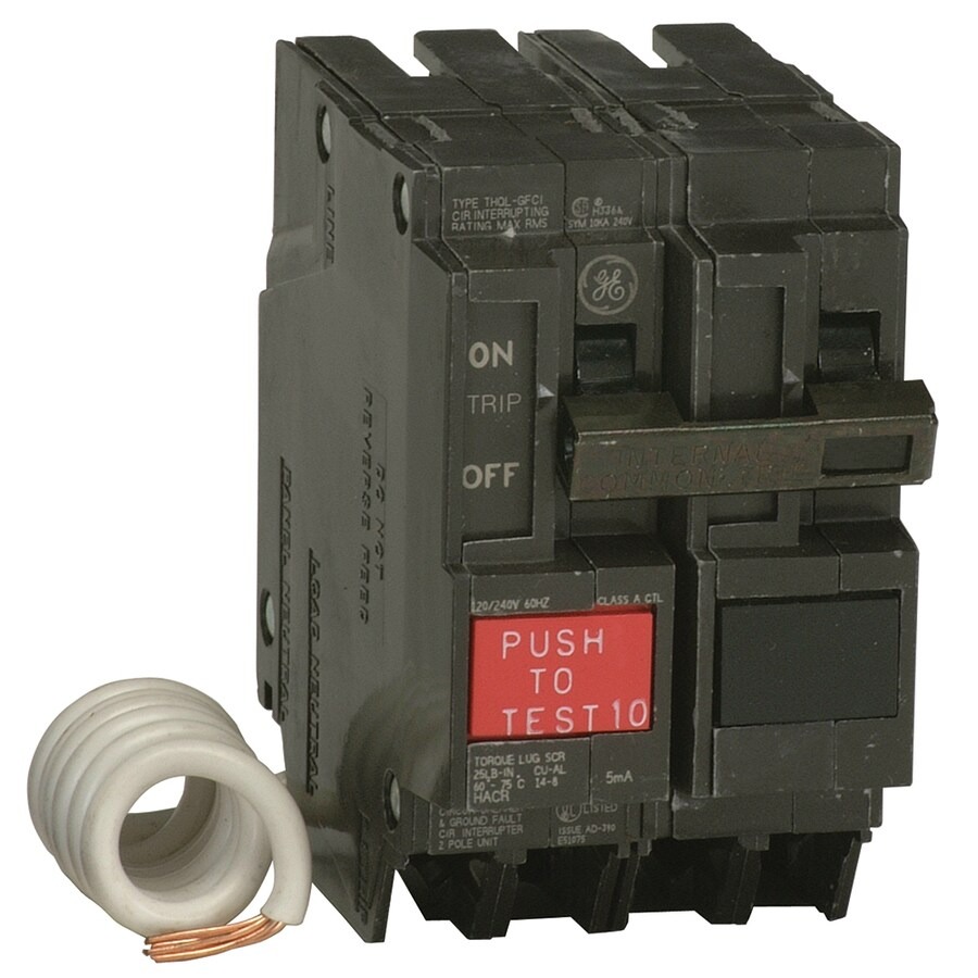 Ge Q Line Thql 20 Amp 2 Pole Gfci Circuit Breaker At Lowes Com