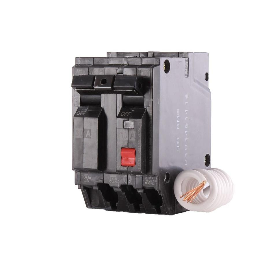 Shop ge q line thql 30 amp 2 pole gfci circuit breaker at lowes ge q line thql 30 amp 2 pole gfci circuit breaker greentooth Image collections