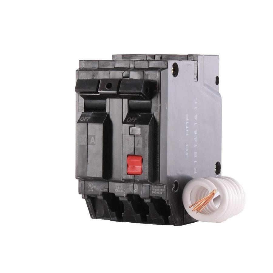783164485844 shop ge q line thql 30 amp 2 pole gfci circuit breaker at lowes com 20 Amp 125 Volt Outlet at eliteediting.co