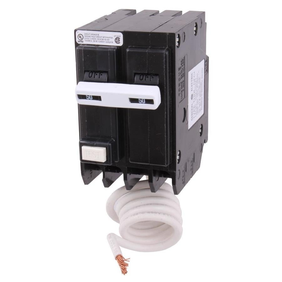 GE Q-Line THQL 50-Amp 2-Pole Ground Fault Circuit Breaker