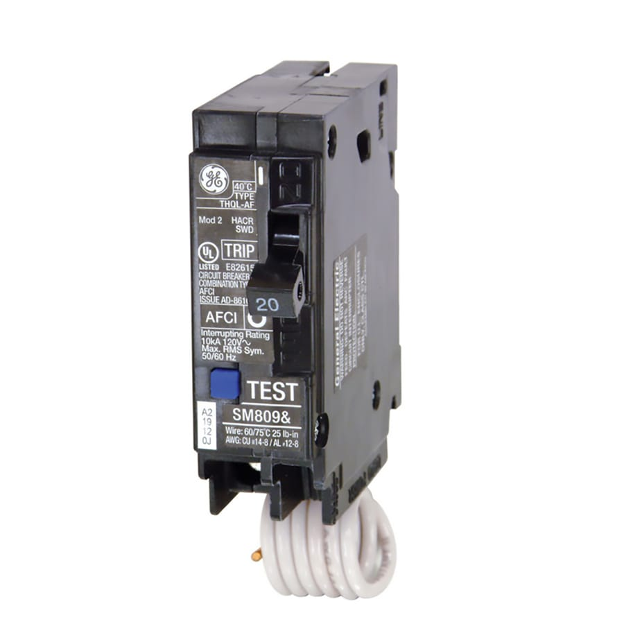 Shop Circuit Breakers At Trippingcircuitbreakerpaneljpg Ge Q Line Thql 20 Amp 1 Pole Afci Breaker