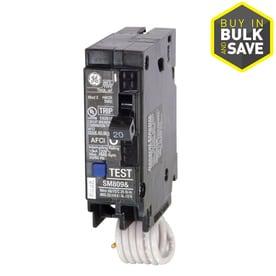 GE Q-line Thql 20-Amp 1-Pole Combination Arc Fault Circuit Breaker