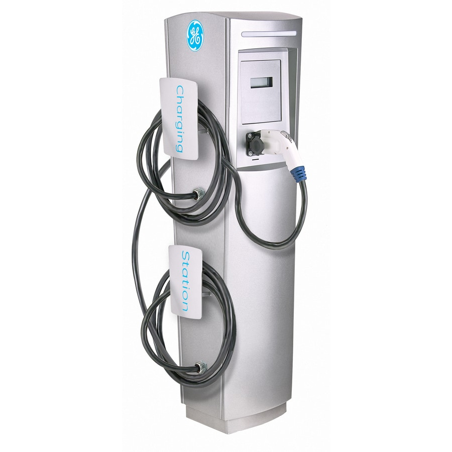 GE Durastation Level 2 30-Amp Freestanding Dual Electric Car Charger