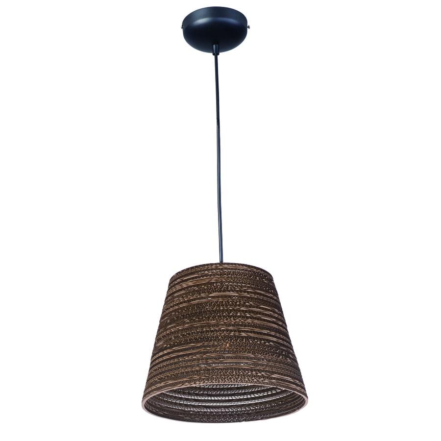 Pyramid Creations Espresso 13.75-in Black Single Pendant