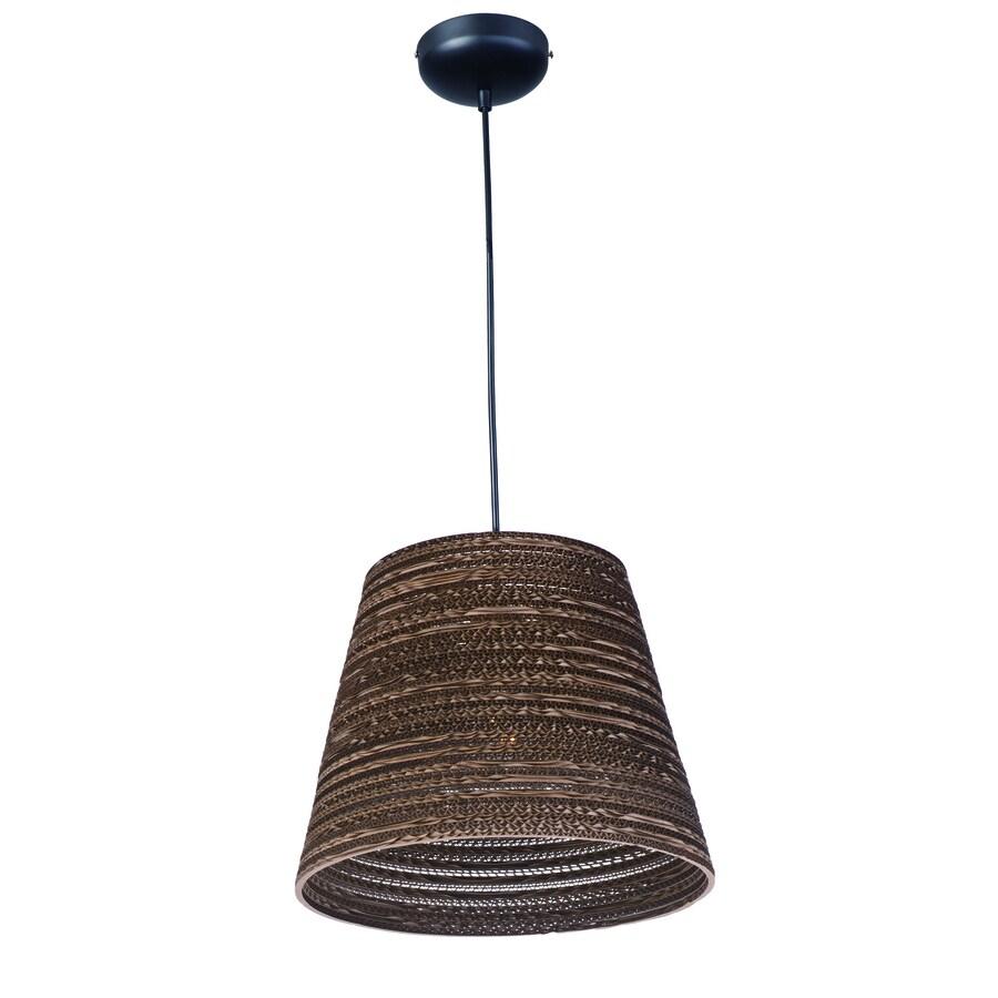 Pyramid Creations Espresso 17.25-in Black Single Pendant