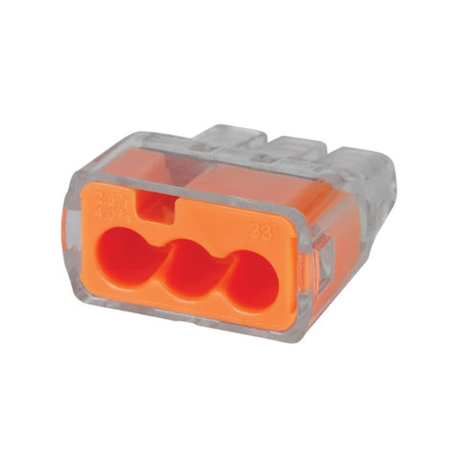Cable Wire Connectors At Prong Plug Wiring 4 Dryer 30 3 Cord Red Ideal 100 Pack Plastic Push In