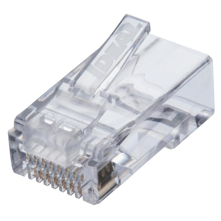 Shop Voice Data Connectors At Cat 6 100 Bt Wiring Diagram Ideal Idc Feed Thru Modular Plug 25 Count