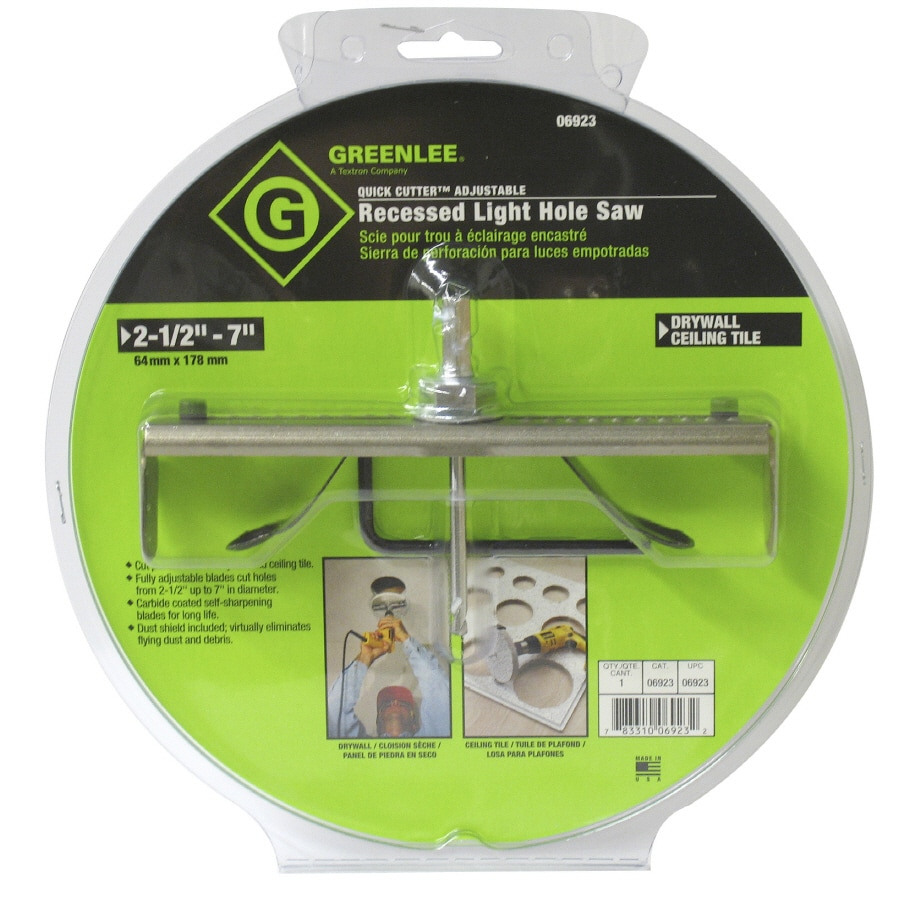 Greenlee Quick Cutter Recessed Lighting Hole Saw