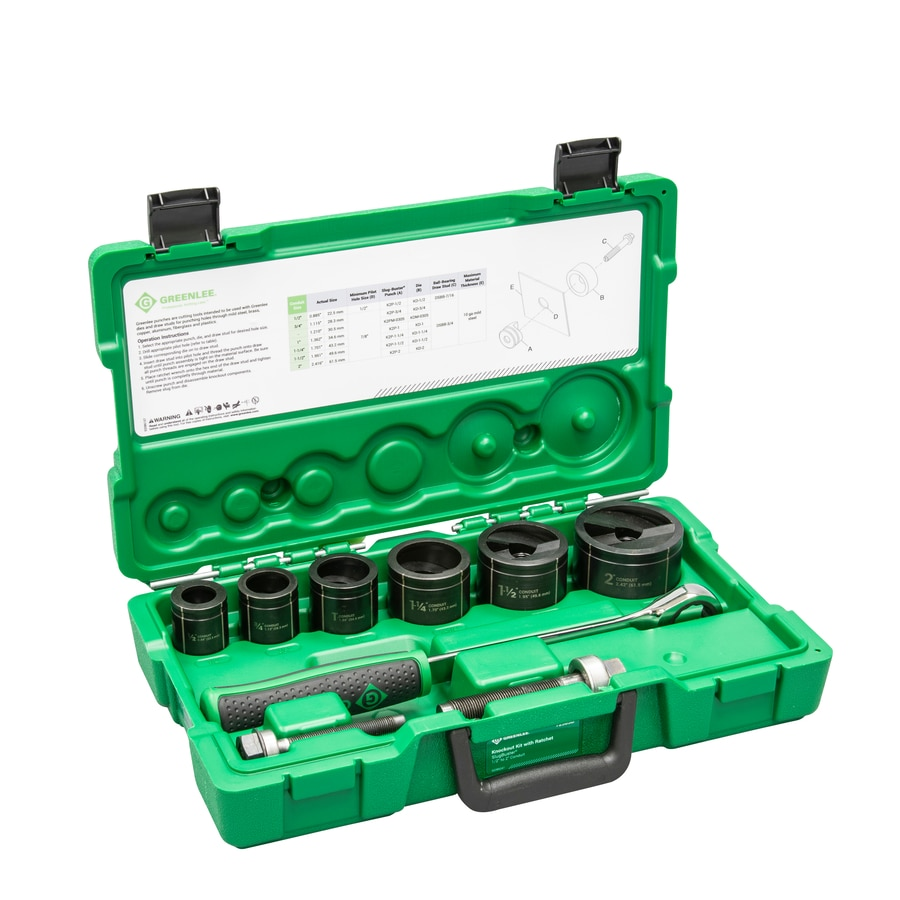 Shop Greenlee Multiple Sizes Manual Knockout Punch Set At