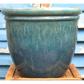 planters large blue products home scenario grande fountains glazed ceramic planter