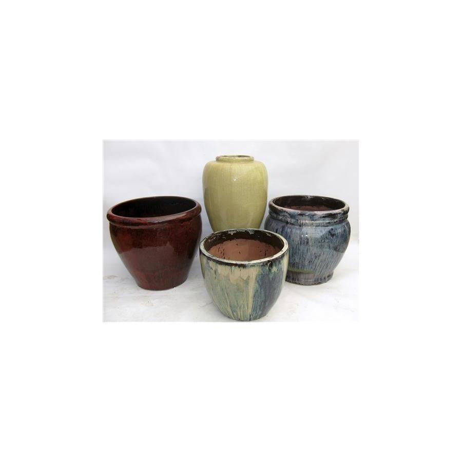 17-in x 17-in Ceramic Planter