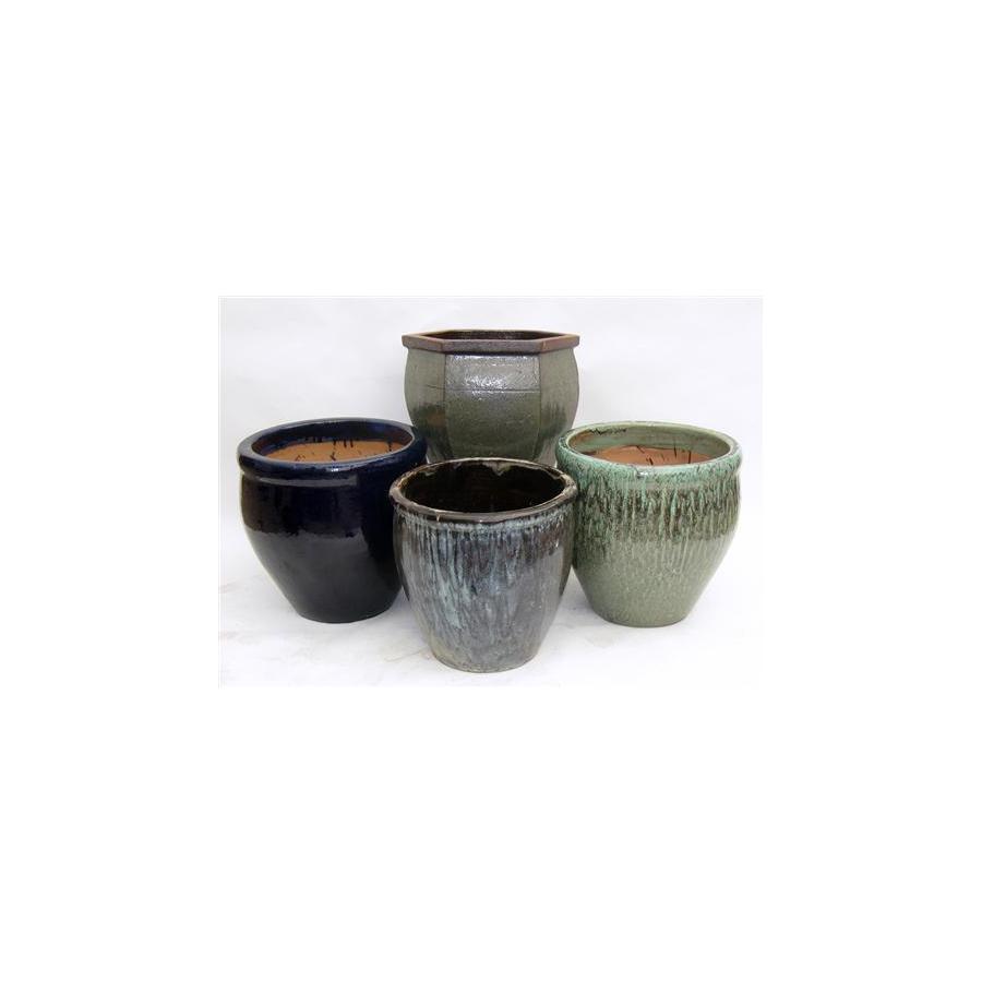 22-in x 16-in Ceramic Planter