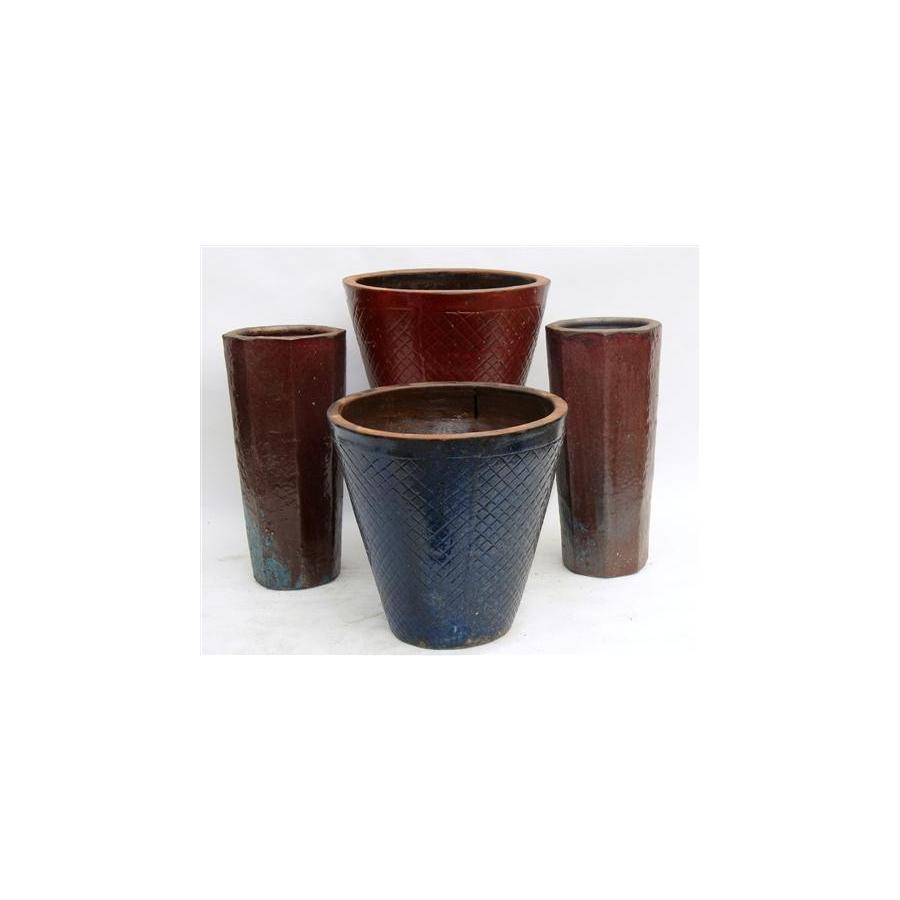 17-in x 20-in Ceramic Planter
