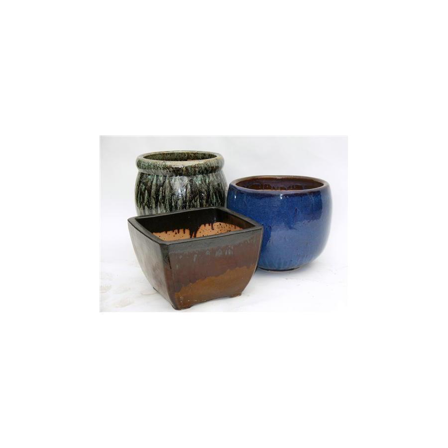 17-in x 28-in Ceramic Planter