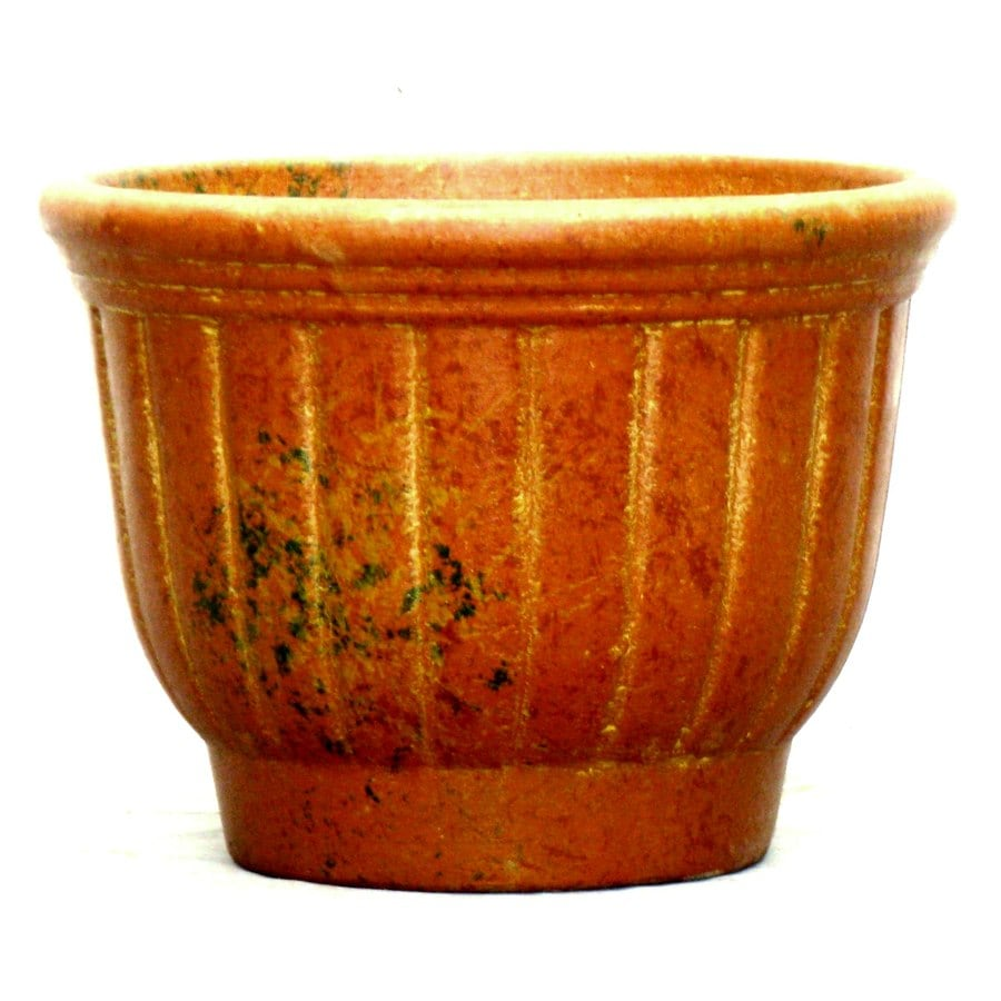 12-in x 10-in Clay Rustic Planter