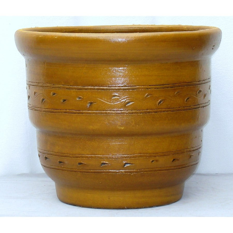 18.5-in x 14.5-in Clay Rustic Planter