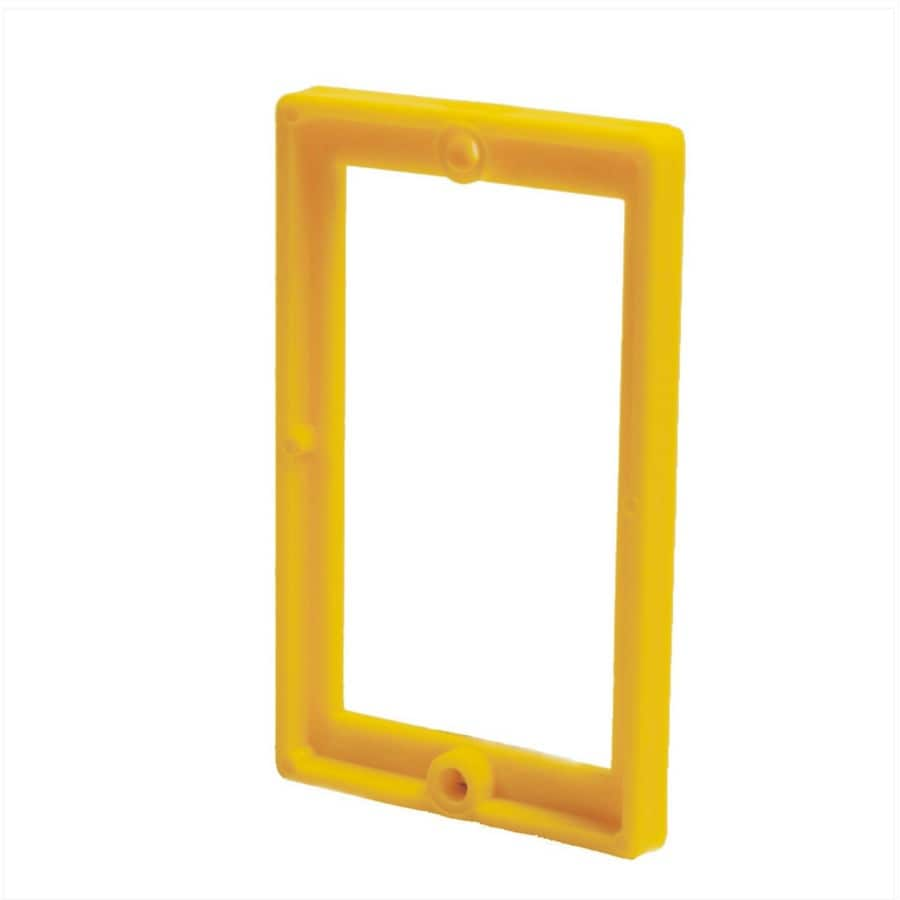 ReceptXtenders 1-Gang Yellow PVC Exterior/Interior New/Old Work Rectangular Wall Electrical Box