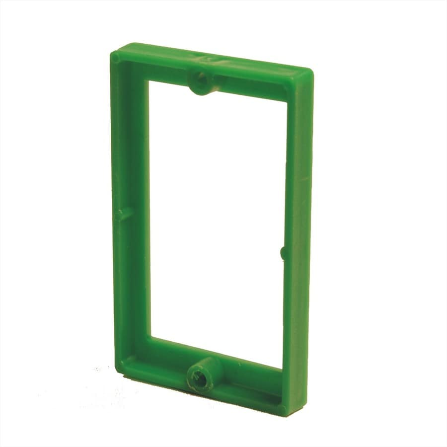 ReceptXtenders 1-Gang Green PVC Exterior/Interior New/Old Work Rectangular Wall Electrical Box