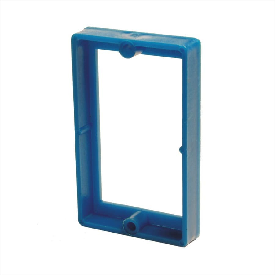 ReceptXtenders 1-Gang Blue PVC Exterior/Interior New/Old Work Rectangular Wall Electrical Box