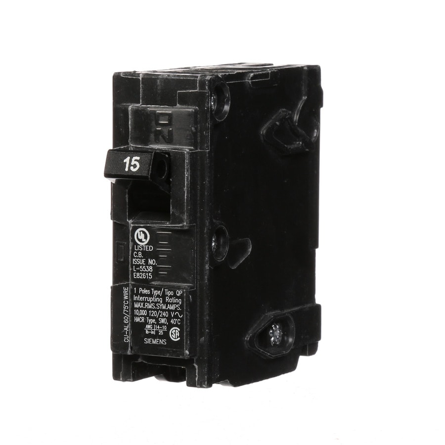 Siemens QP 15-Amp 1-Pole Single-Pole Circuit Breaker
