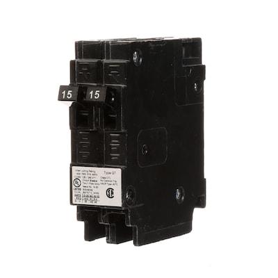 Qt 15-Amp 2-Pole Tandem Circuit Breaker on